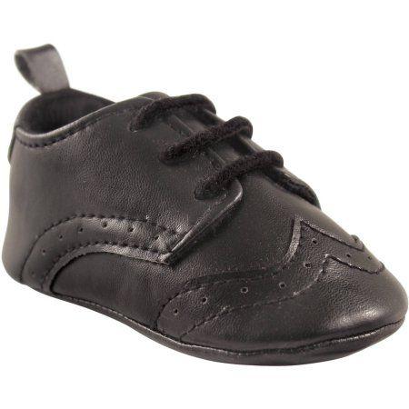 Luvable Friends Newborn Baby Boys Wingtip Dress Shoe Size 0 6 Months Black