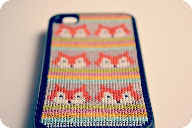 Cross Stitch iPhone Case - Fox | Flickr - Photo Sharing!