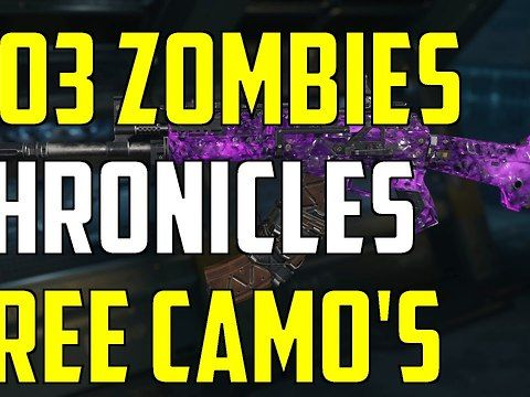 BO3 Zombies Chronicles DLC 5 NEW FREE Camo's For Zombies And Multiplayer So yesterday back ops 3 zombies chronicles dlc 5 came out and if you purchased dlc first on ps4 for the you will get this reward pop up telling you that they have given free camos for zombies multiplayer<br><br>Please Hit The Like Button<br>And Subscribe So You Can Keep Up To Date<br><br>✔ Leave A Comment Below We Always Reply<br>▬▬▬▬▬▬▬▬▬▬▬▬▬▬▬▬▬▬▬▬▬▬▬▬<br>✔ Subscribe to Me<br><a…