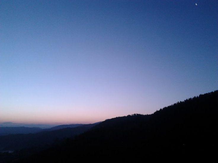 The sunrise over Arcevia - Marche - Italy