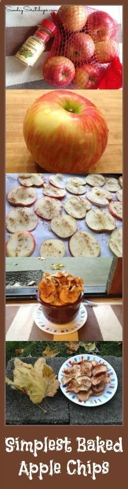 What I made with my cheap Honeycrisp apples from ALDI -- super easy and healthy baked apple chips!