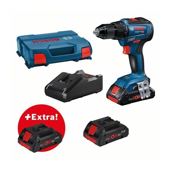Bosch Perceuse Visseuse Gsr 18v 55 Professional Procore 18v 3x4 0ah Coffret L Case 0615990l4p Ebay Drill Tools