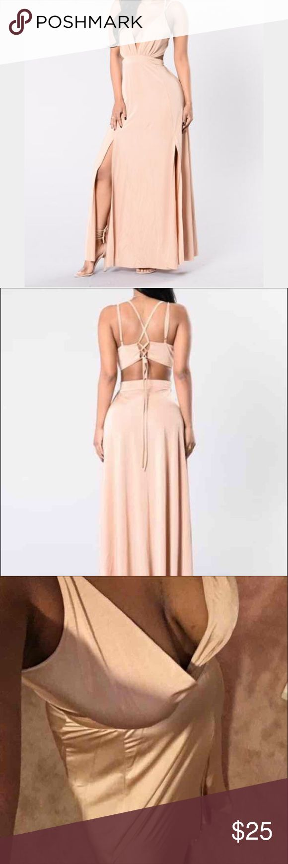 FASHION NOVA HYMN FOR THE WEEKEND DRESS Brand new. Saying dress good for a bridesmaids gown or a nice elegant evening out to a ball on something. It is very long I am 5'3 and it was dragging Fashion Nova Dresses Maxi