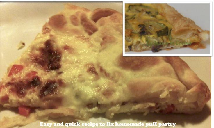 Easy and quick recipe to fix homemade puff pastry