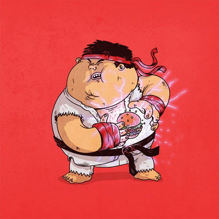 The Famous Chunkies retrata a obesidade em ícones da cultura pop. A série criada pelo ilustrador Alex Solis aborda de maneira bem humorada um tema que chega cada vez mais cedo nas nossas vidas e nos mostra as nossas referências mais próximas da realidade fast-food que vivemos. No site do artista…