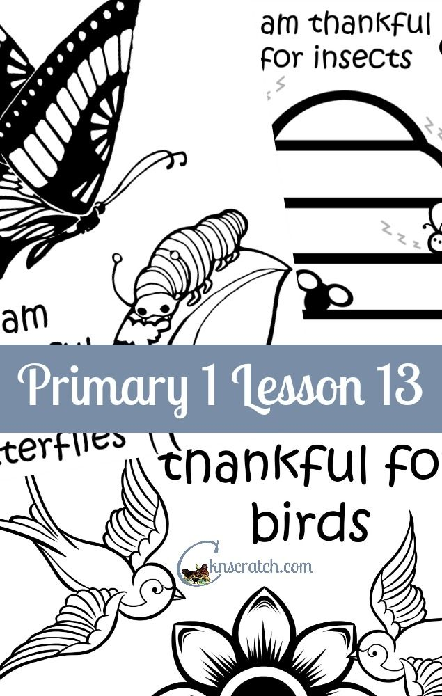 Great Lesson Helps And Handouts For Primary 1 13 I Am Thankful Birds
