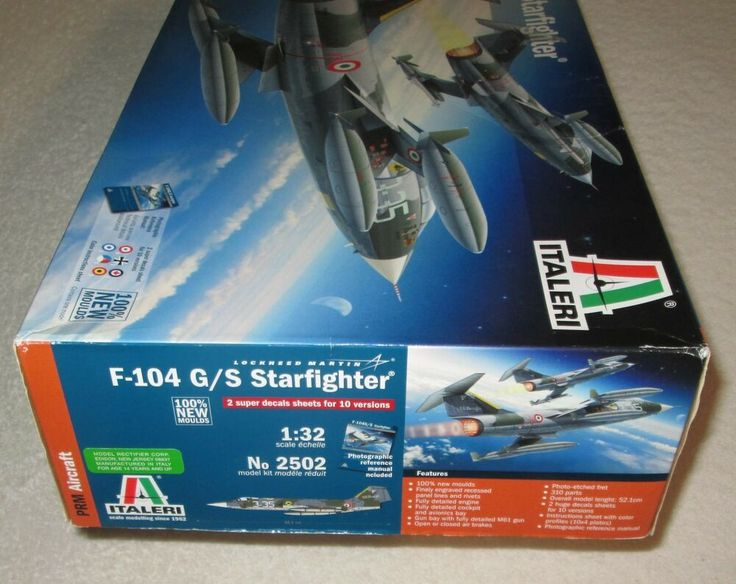 1 32 F 104g S Lockheed Martin Starfighter Italeri 2502 W Super Decal Sheets Starfighter Lockheed Model Aircraft