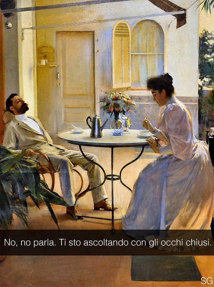 """Ramon Casas . """" Scena domestica all'aria aperta """""""