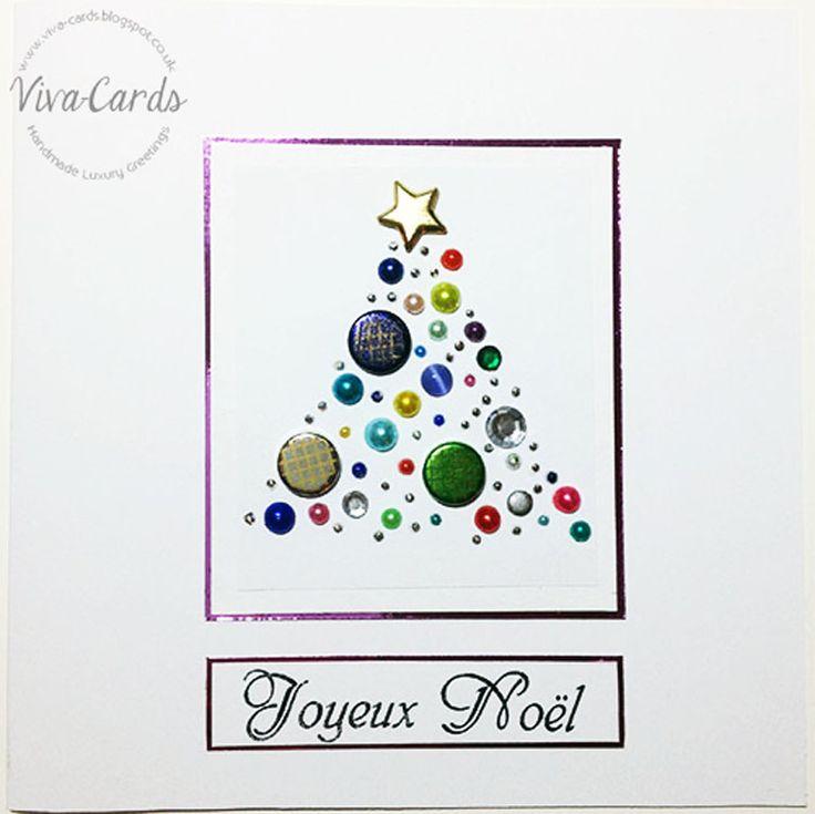 Handmade Card - Joyeux Noel Tree  #Papertrey, #Mirri