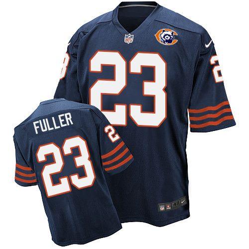 19e1eb86546 ... Nike Kyle Fuller Mens Navy Blue Elite Jersey 23 NFL Chicago Bears  Throwback ...