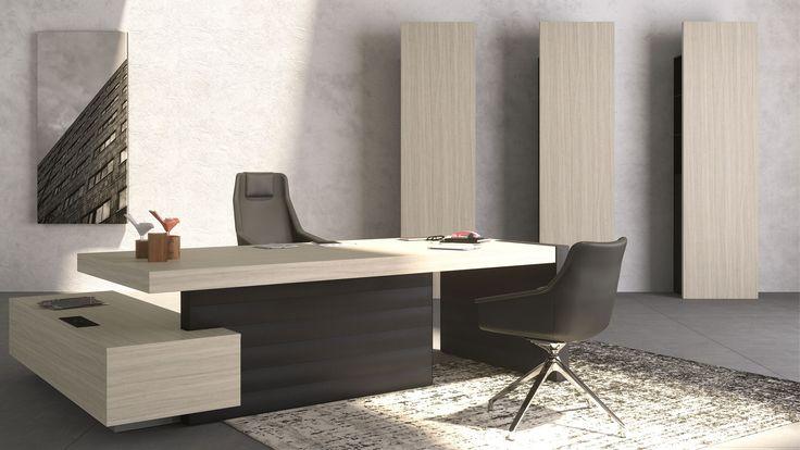 Mobiliario Ejecutivo JERA - UPPER PANAMA. Ideal para oficinas.  Jera es una línea de oficinas diseñado con un enfoque netamente arquitectónico. El poder del diseño viene de los gruesos bordes, la carpintería entre los planos, y los salientes verticales y horizontales.