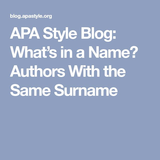 how to add authors name in apa