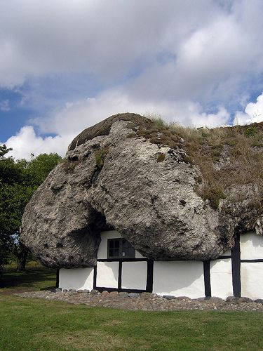Best Huse Images On Pinterest Architecture Cob Houses And - Huge boulder narrowly missed house in italy
