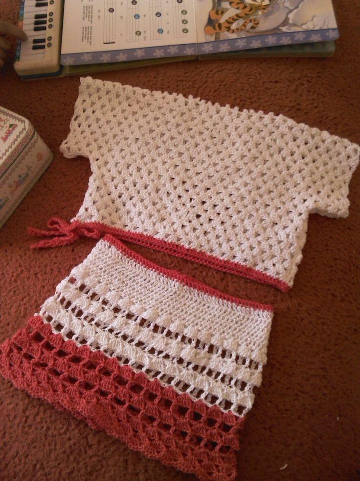 conjunto niña crochet