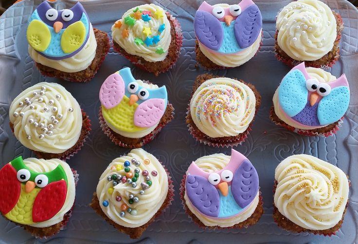 Baykus cupcake
