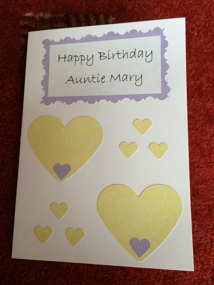 Handmade Birthday Card for My Auntie Mary (2015)