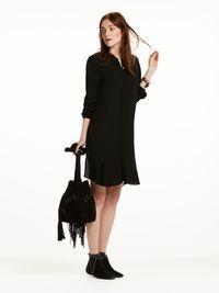 Kleid aus Viskose mit Schößchen   Kleider   Scotch & Soda Damenbekleidung