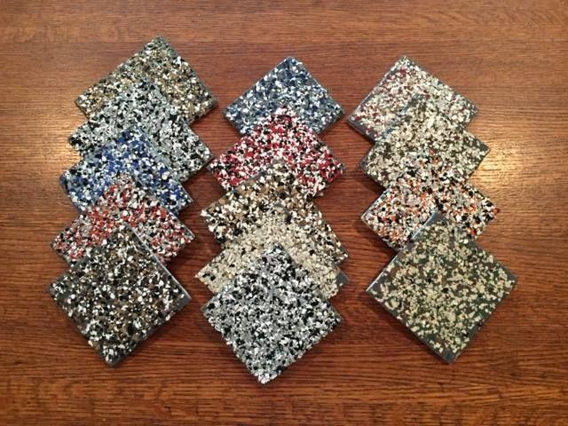 Ecodur plant based coating floor samples.