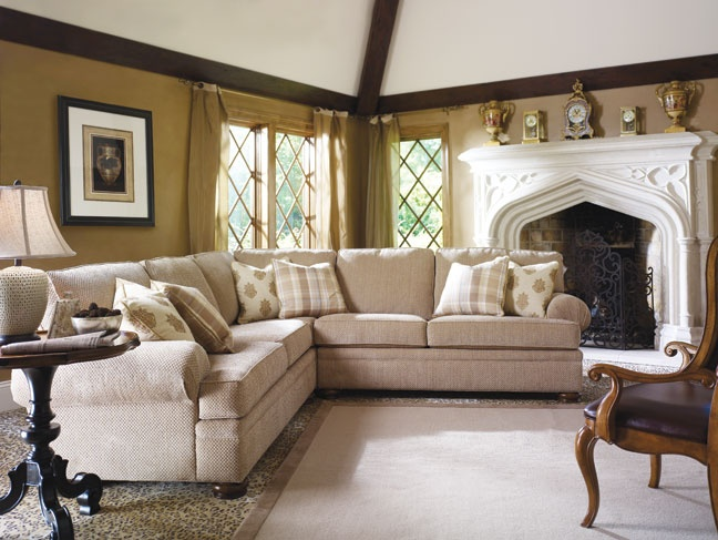 Sofa Table Southbury Sectional with Rivage Occasional Tables