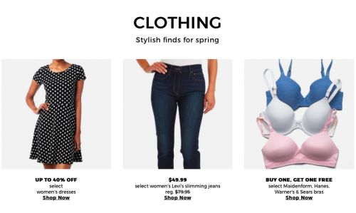 Sears Canada Sears Days Sale: Buy 1 Get 1 FREE on Bras and Save Up to 40% Off Dresses and $30 Off Levis Jeans http://www.lavahotdeals.com/ca/cheap/sears-canada-sears-days-sale-buy-1-1/188174?utm_source=pinterest&utm_medium=rss&utm_campaign=at_lavahotdeals