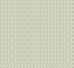 Lim & Handtryck Tapet - Mölletorp grön/vit