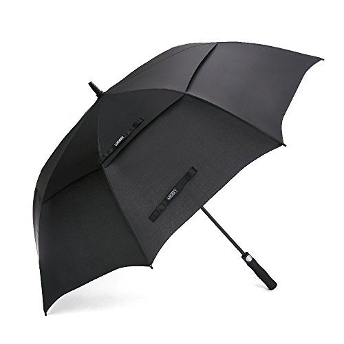 UK Golf Gear - G4Free 62 Inch Automatic Open Golf Umbrella Extra Large Oversize Double Canopy Vented Windproof Waterproof Stick Umbrellas