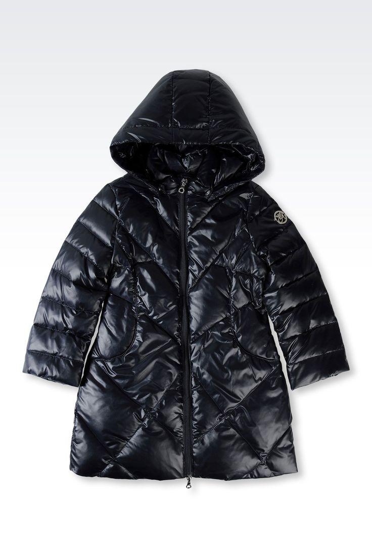 Doudoune Armani Junior - DOUDOUNE EN TISSU TECHNIQUE AVEC CAPUCHE Armani Junior Online Store Officiel