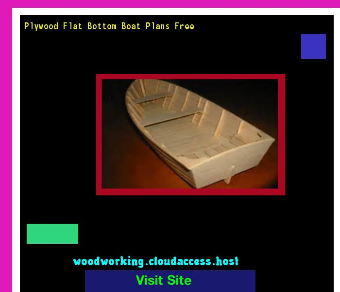 Plywood Flat Bottom Boat Plans Free 075542 - Woodworking Plans and Projects!