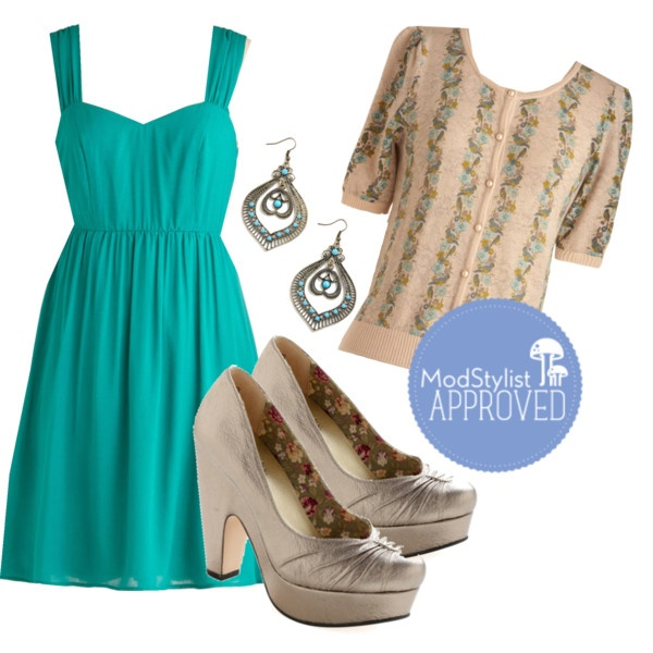 Teal it to My Heart Dress, created by modcloth.polyvore.comStyle, Outfit, My Heart, Teal, Create, Modcloth Polyvore Com, Heart Dresses