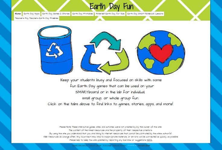 Classroom Ideas For Earth Day : Technology rocks seriously earth day fun sites apps