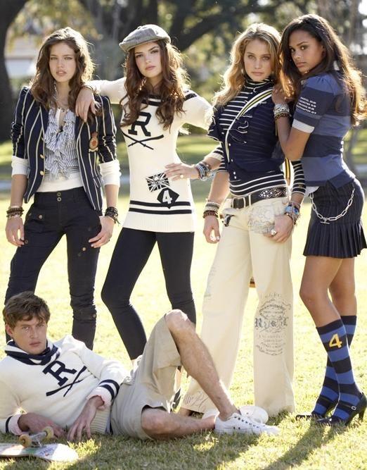 Emily DiDonato - Model Hannah Davis - Model Jimmy Young-Whitforde - Model Kerry Degman - Model Ralph Lauren Rugby S/S 09 (Ralph Lauren)