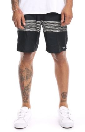Brixton Clothing, Barge Trunks - Black/Red