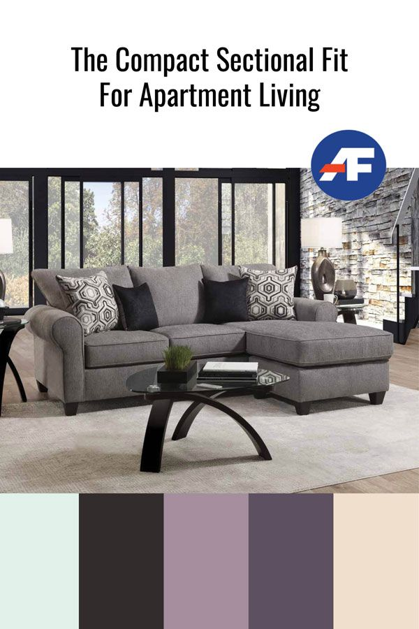 The Compact Sectional Fit For Apartment Living American Freight Blog In 2020 Sectional Apartment Living Apartment