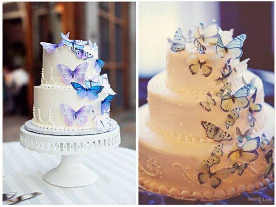 Hochzeitstorte-schmetterlinge-blau-dekoration-Torte-Hochzeit www ...