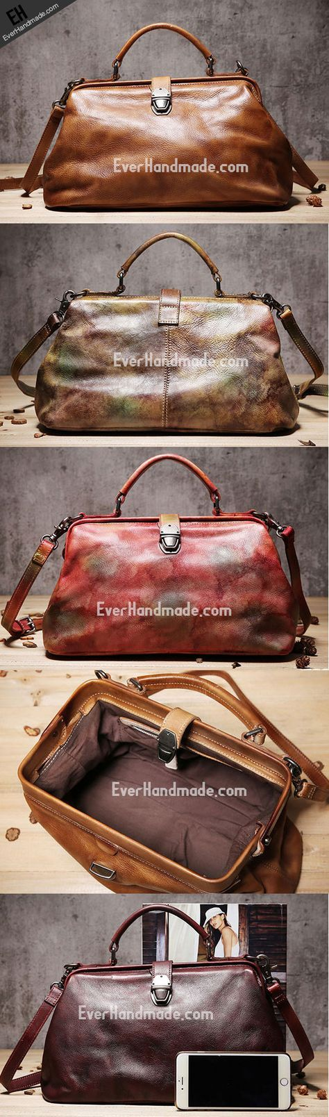 Handmade Leather doctor bag purse for women leather shoulder