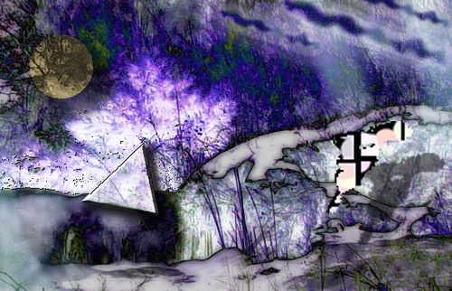 violet silver - by Bonnie Holm
