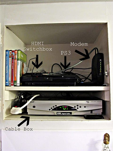Cord Free Mantel: How To Hide Your Cable Box System - Dream Book Design