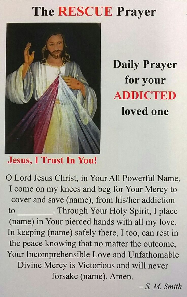 The RESCUE Prayer for an Addicted Love One