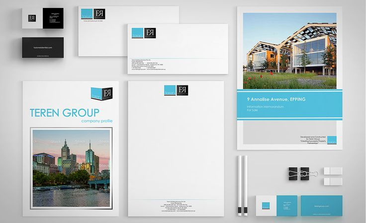 Client: Construction company, presented by two companies, one specialising in the industrial property construction and another in residential luxury developments. Brief: Redesign branding collateral using existing logos and colours, create all new station…
