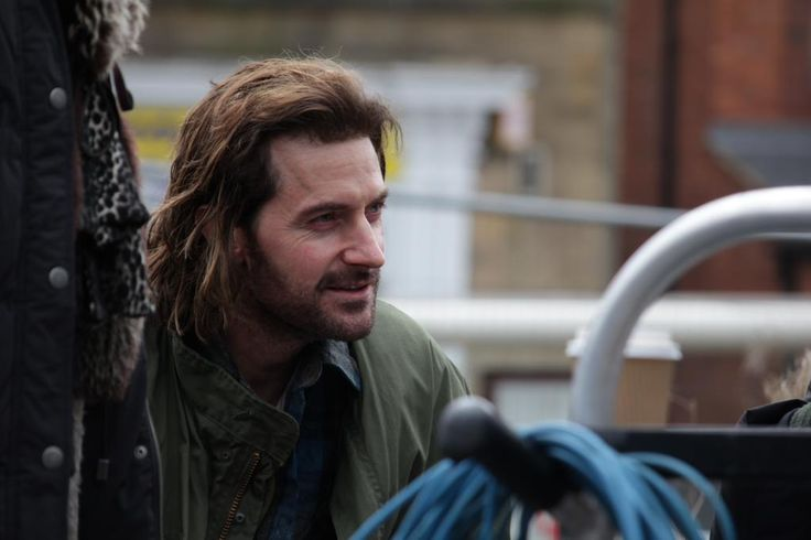 candida brady ‏@candidabrady   Richard Armitage on set in @UrbanATShedCrew Urban and the Shed Crew's made in Leeds