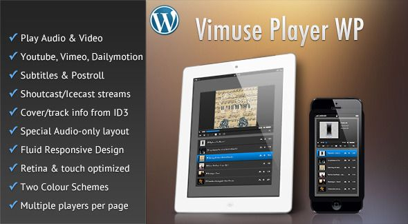 Vimuse - Media Player Wordpress Plugin - CodeCanyon Item for Sale