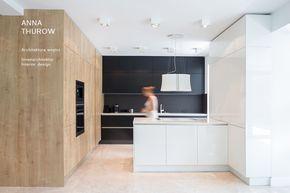 minimalistyczna kuchnia: czarna, drewniana i biała. minimalist kitchen in black, wood and white www.annathurow.pl