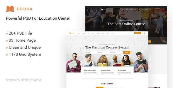EDUCA | Multiconcept Education & Courses PSD Template - Business Corporate Download here : https://themeforest.net/item/educa-multiconcept-education-courses-psd-template/20594322?s_rank=107&ref=Al-fatih