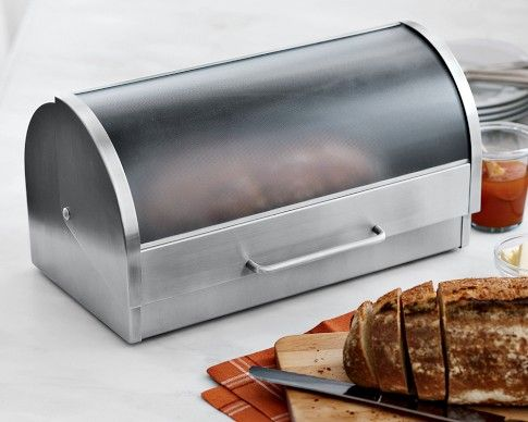 Bread Boxes Bed Bath And Beyond Bread Box Chrome Breadboxlincoln Beauty Boxvintyminty