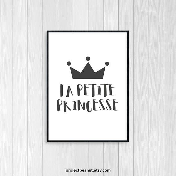 Printable Wall Art - Quote Prints - Wall Art Quotes - Printable Quotes - Monochromatic Art - Nursery Wall Decor - Little Princess - Princess  PLEASE NOTE:  + You are purchasing a digital file only.  + THIS IS AN INSTANT DOWNLOAD OF FILES.  + NO PRINTED MATERIALS ARE INCLUDED!  + There are NO REFUNDS as this is a digital product.  + A reminder that this is a DIGITAL PRODUCT.  WHAT DO YOU GET? 8x10 inch digital printable artwork  The files will be delivered electronically. Within minutes of…
