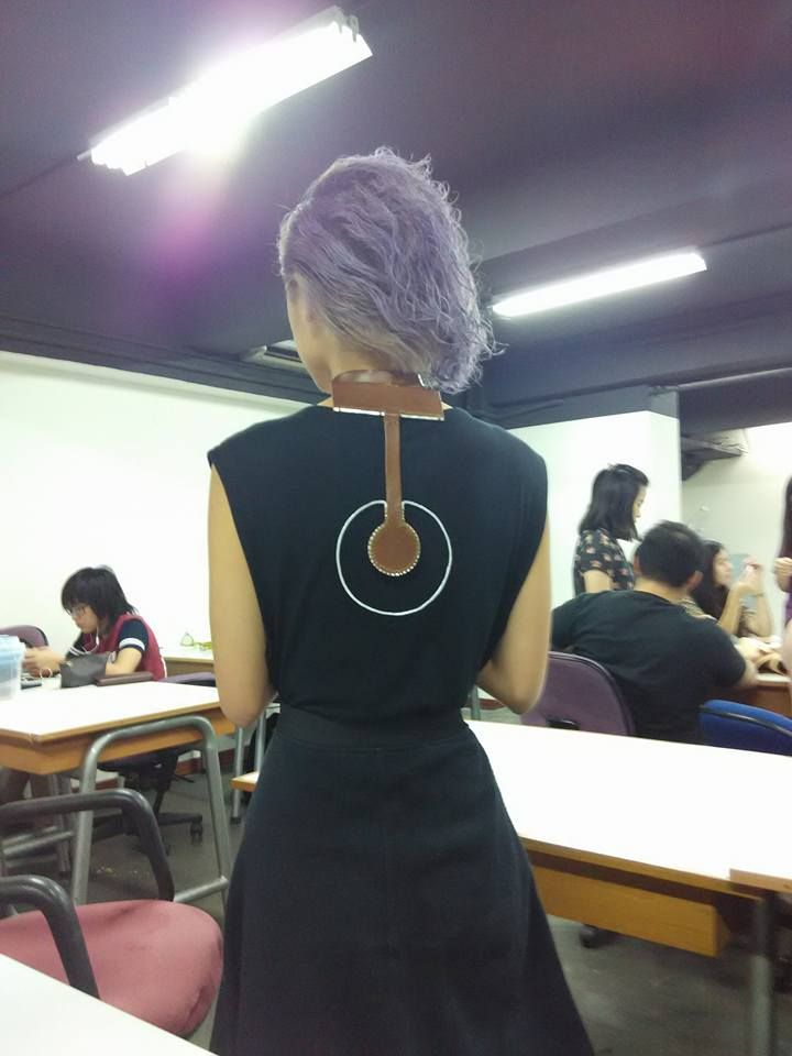 UPH, Despro Class 2013, Workshop 2. Sekha leather workshop. Leather & metal jewelry by Keshia Nathania