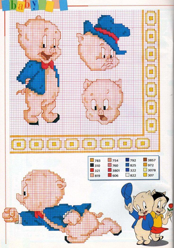 vari schemi punto croce di Porky Pig (1) - magiedifilo.it punto croce uncinetto schemi gratis hobby creativi