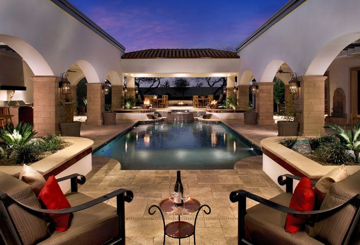 Unique indoor home pools mitchell custom homes pools architectural pools pinterest - Unique indoor swimming pools ...
