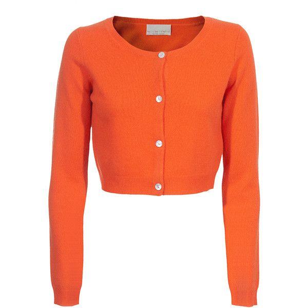 Ftc Bolero Orange Cropped Cashmere Cardigan (13.525 RUB) ❤ liked on Polyvore featuring tops, cardigans, sweaters, women, orange top, orange cardigan, orange crop top, crop top and cashmere cardigan
