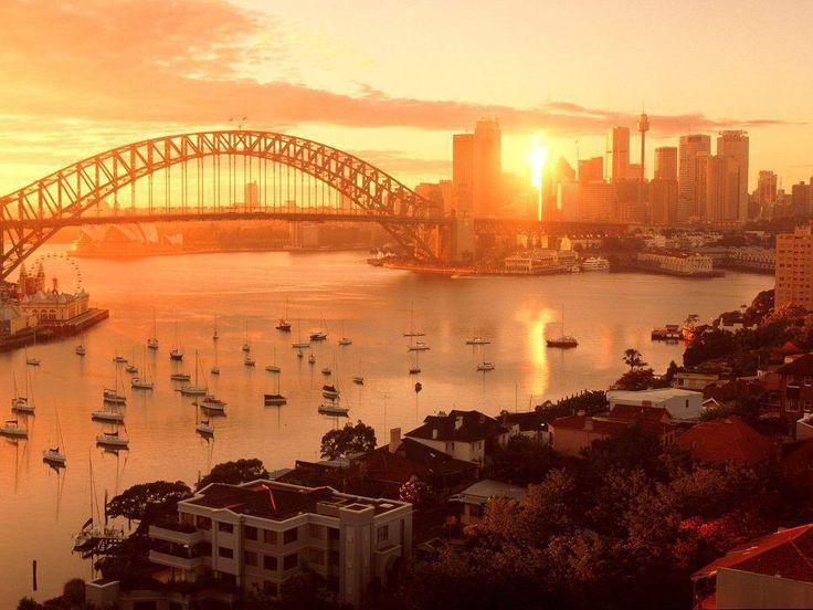Sydney Harbor, New South WalesBuckets Lists, Sydney Harbour, Favorite Places, Cities, Sunsets, Beautiful Places, Sydney Australia, Travel, Bridges